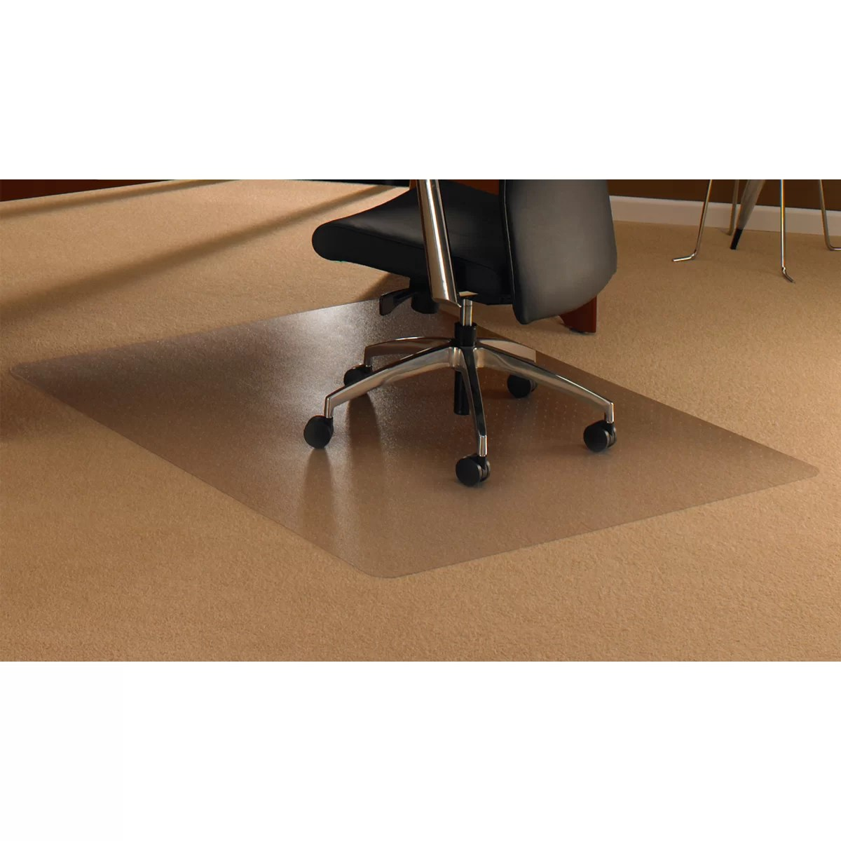 desk chair mat for high pile carpet swing stand white floortex cleartex straight
