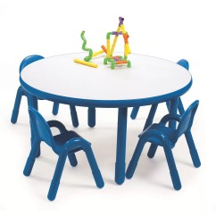 Daycare Table And Chair Set Elasticated Dining Room Covers Angeles Round Baseline Preschool In