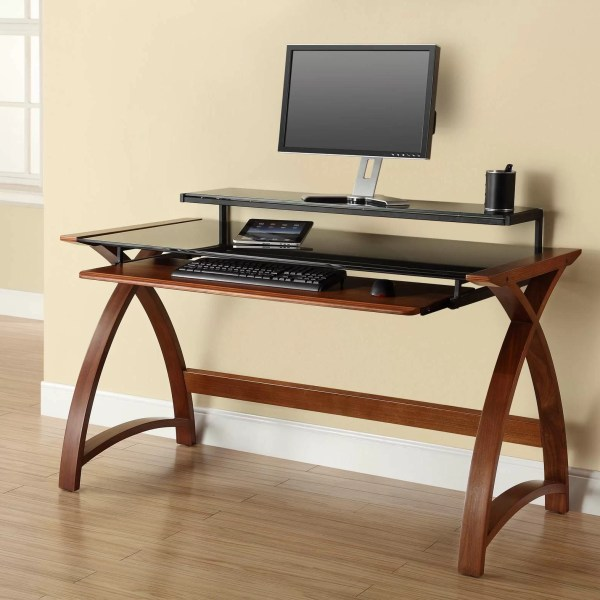 Jual Curve Computer Desk With Keyboard Tray & Uk