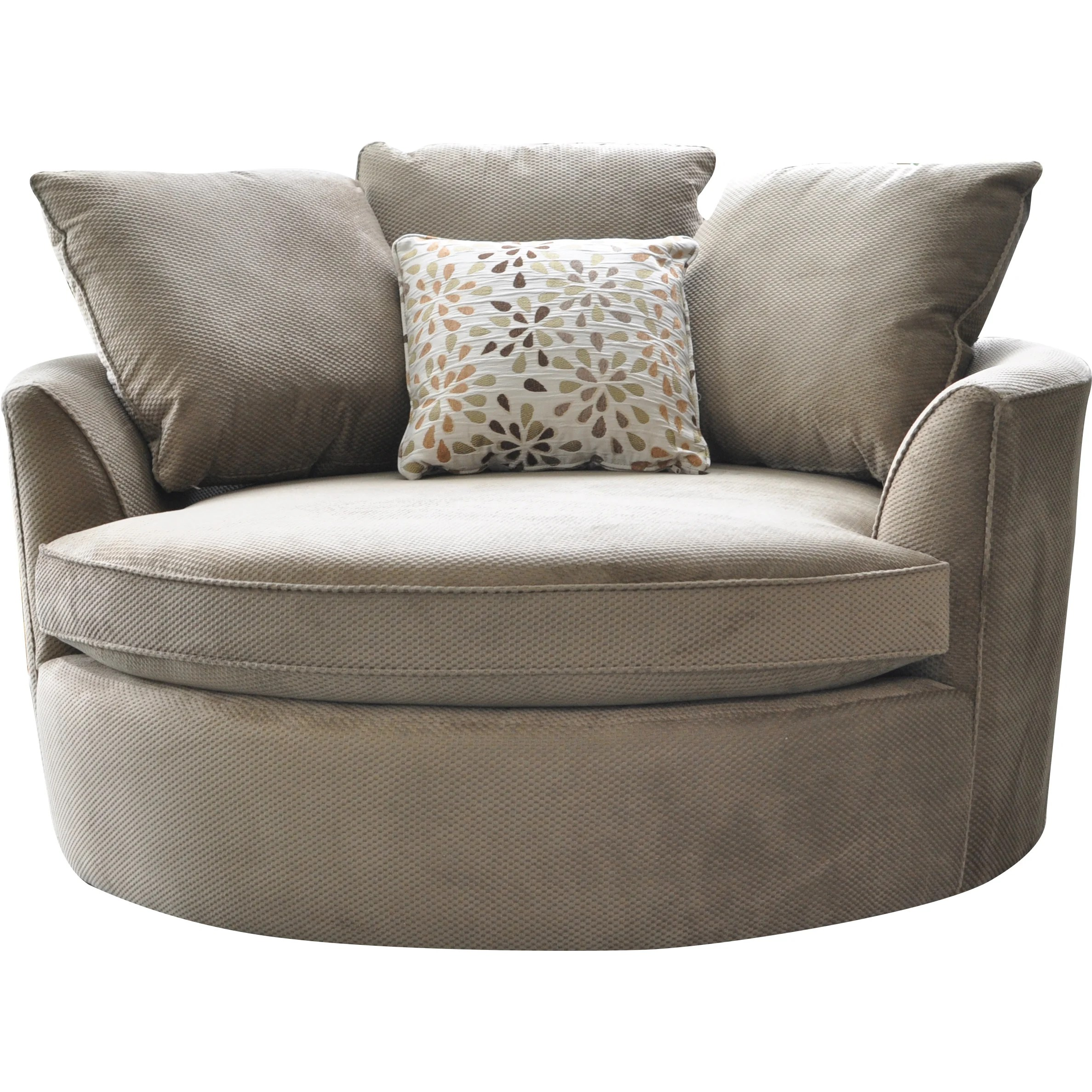 Round Comfy Chair Cuddler Swivel Sofa Chair Home Decor