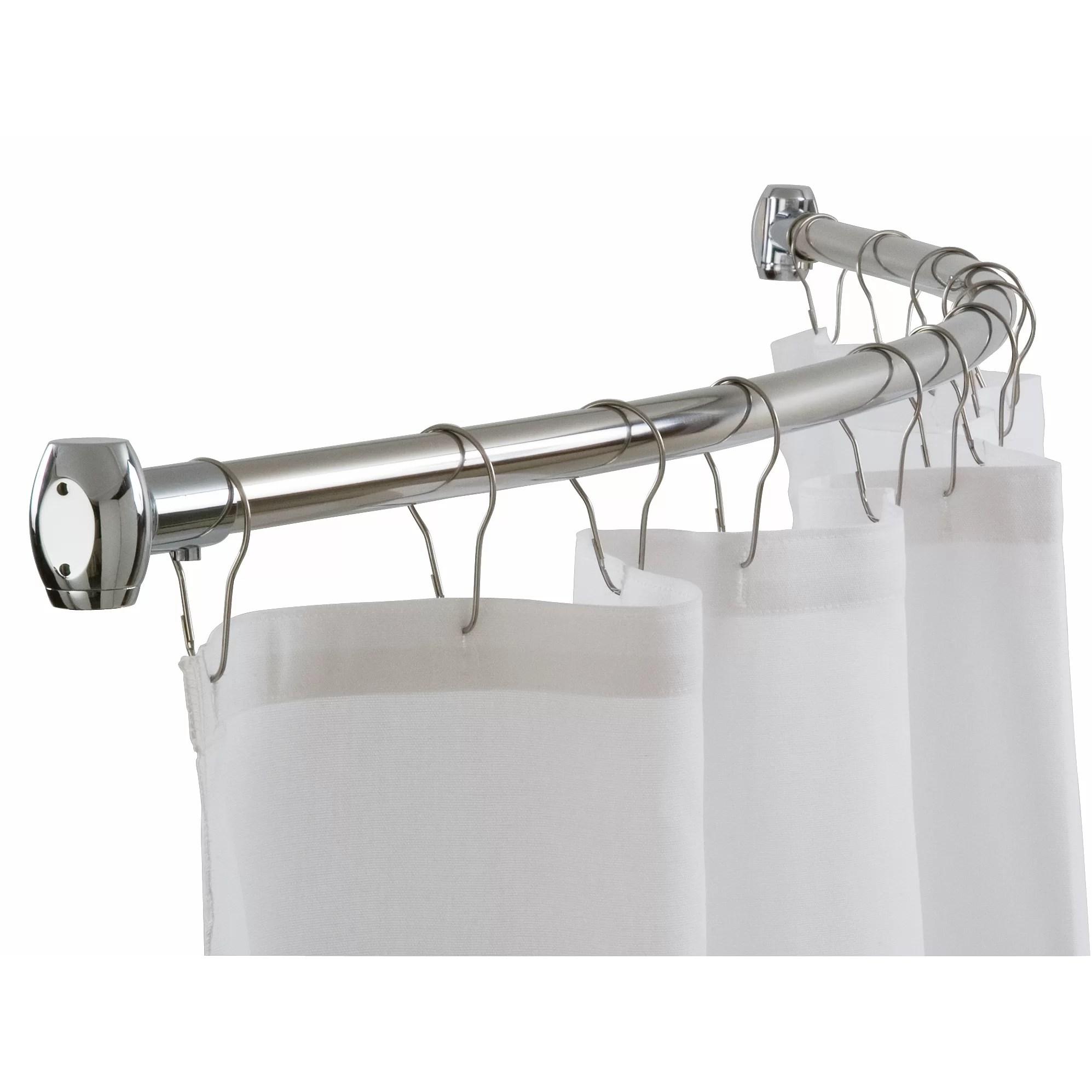 "Bradley Corporation 60"" Curved Shower Curtain Rod & Reviews Wayfair"