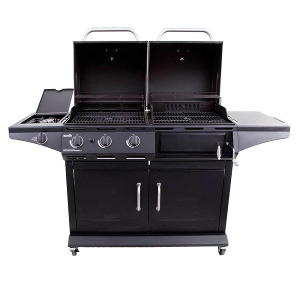 Propane 3 Burner Charcoal Gas Combo Grill