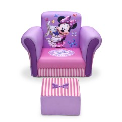 Minnie Mouse Upholstered Chair Dining Chairs With Casters Delta Children Kids Club