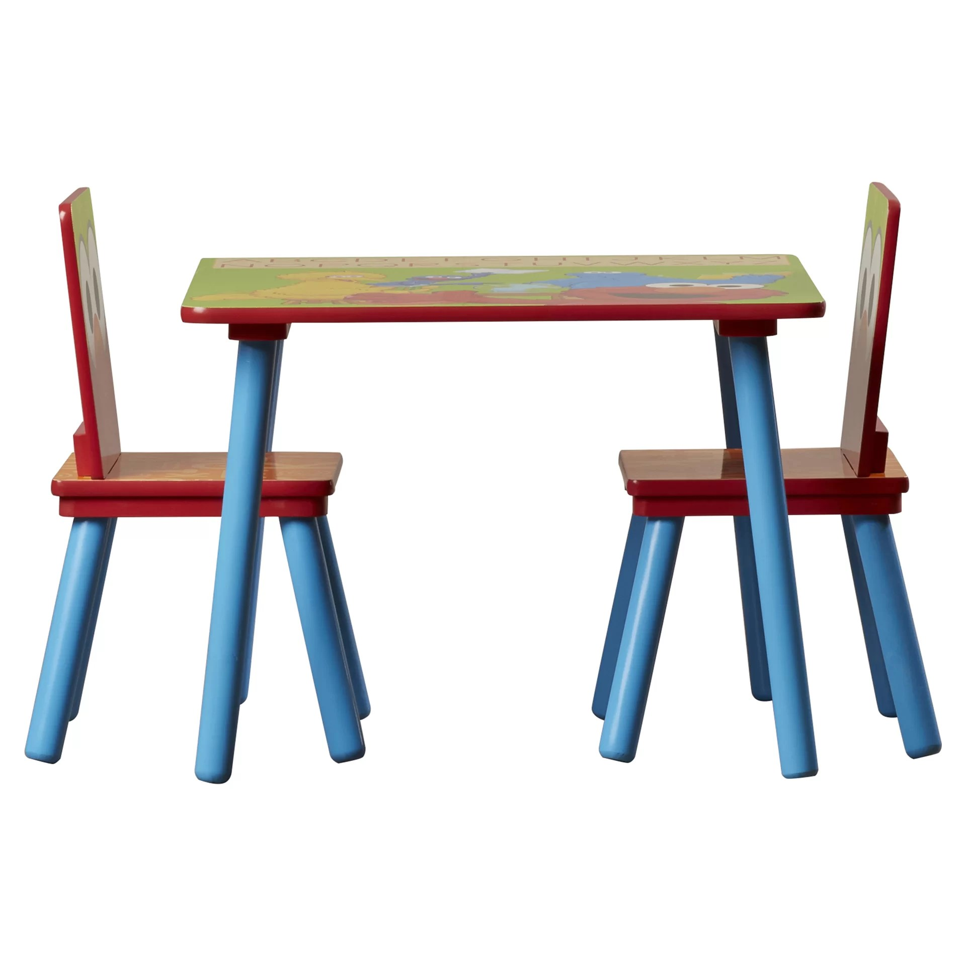 sesame street table and chairs posture armchair delta children kids 39 3 piece chair