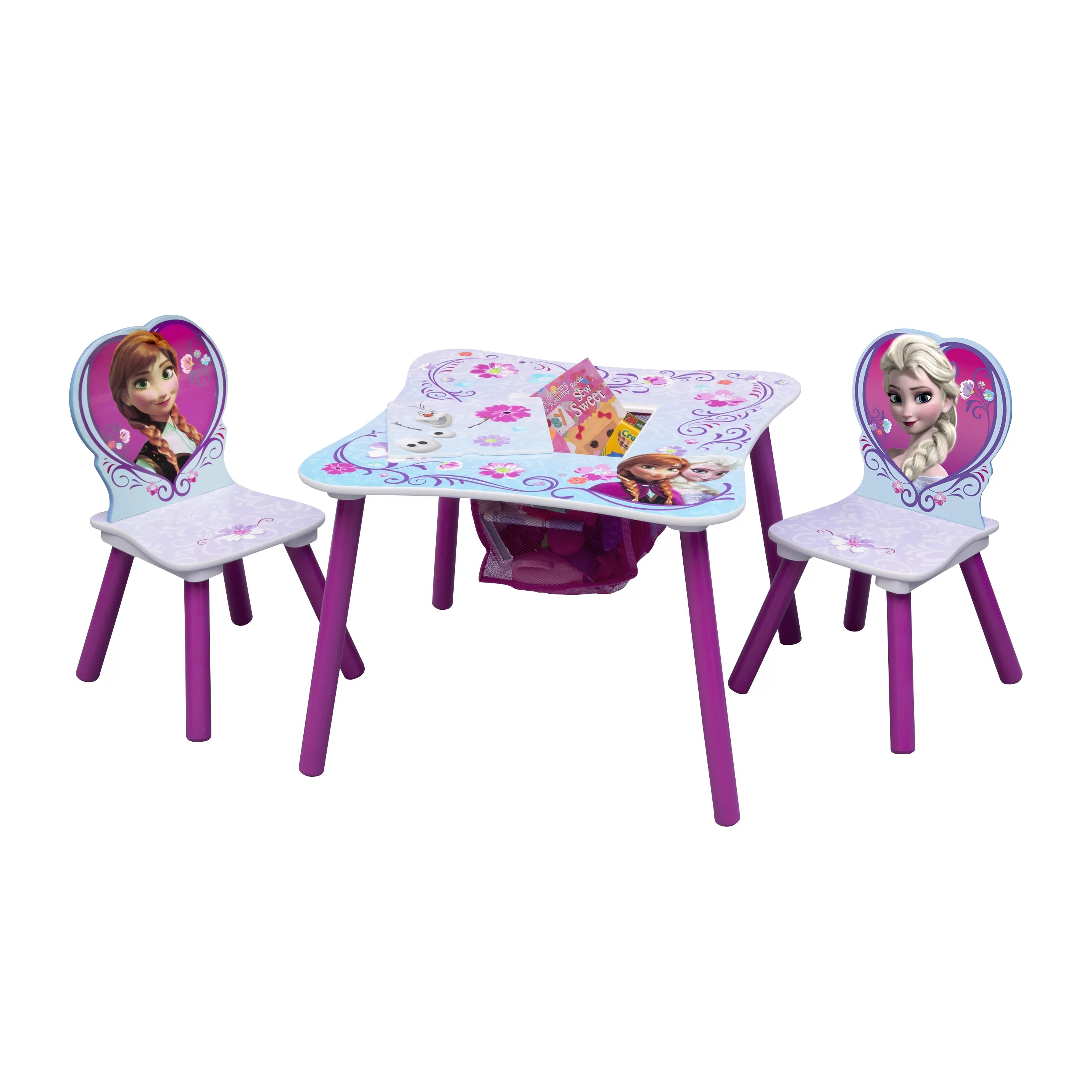 disney table and chair set covers guineys delta children frozen kids 3 piece