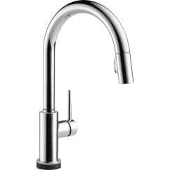 Delta Trinsic Kitchen Faucet Rustic Countertops Single Handle Pull Down Standard