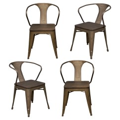 Rustic Metal Dining Chairs Wedding Reception Buffalo Tools Amerihome Arm Chair And Reviews Wayfair