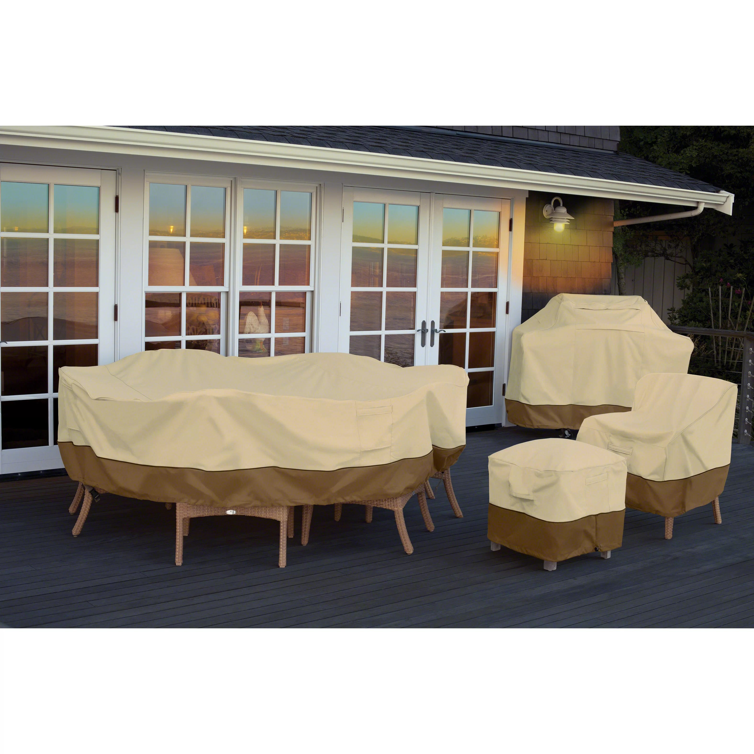 patio table and chair set cover covers galway classic accessories veranda