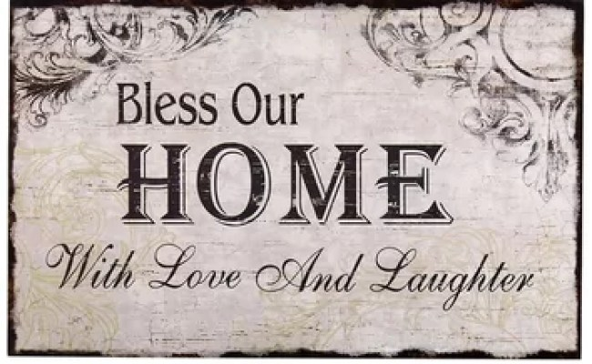 Adecotrading Bless Our Home With Love And Laughter Wall