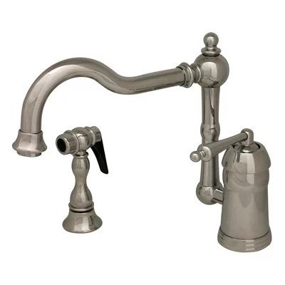 single hole kitchen faucet with side spray Whitehaus Collection Legacyhaus One Handle Single Hole
