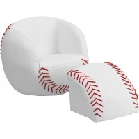 Flash Furniture Kids Baseball Upholstered Chair & Ottoman