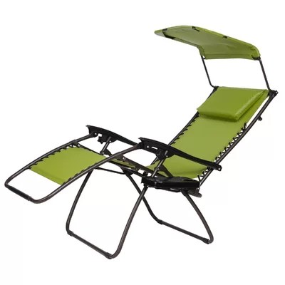 xl zero gravity chair with canopy and footrest polka dot desk transabed folding reclining | wayfair