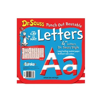 Dr Seuss 4 in. Letters