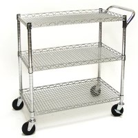 Seville Classics Shelf UltraZinc Commercial Utility Cart ...