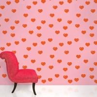 """WallCandy Arts 2.17' x 26"""" Hearts Wallpaper & Reviews ..."""