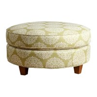 Abbyson Living Fabric Round Ottoman & Reviews