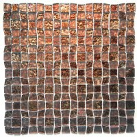 "12"" x 12"" Glass Peel and Stick Mosaic Tile in Brown 