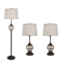"Catalina Lighting Mercury Glass 12"" H Table Lamp with Drum ..."