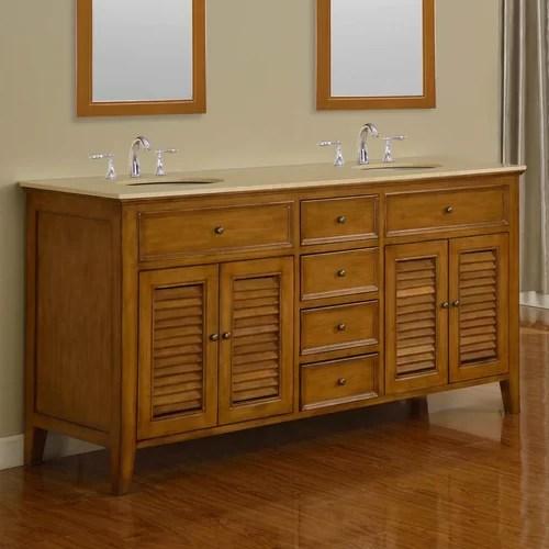 Mission Double Sink 70 Bathroom Vanity Set  Wayfair