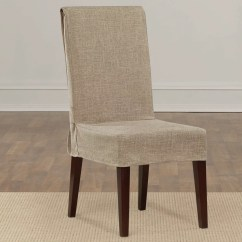 Linen Chair Covers Dining Room And Sashes Rental Sure Fit Shorty Slipcover Reviews Wayfair