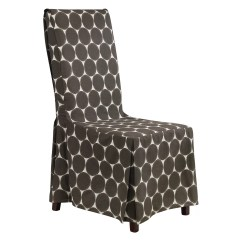 Grey Parson Chair Covers High Modern Design Sure Fit Ikat Skirted Slipcover And Reviews