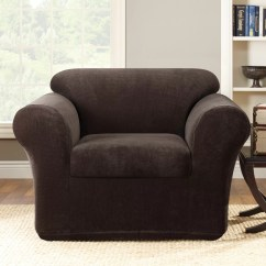 Club Chair Slipcover Rubbermaid High Tray Sure Fit Stretch Metro 2 Piece Armchair