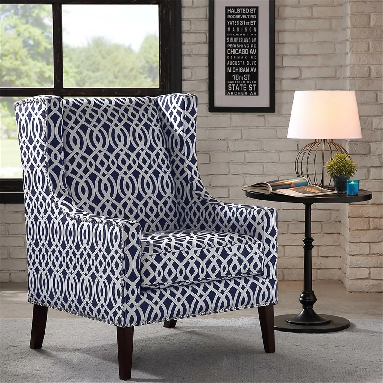 Barton Chair Madison Park Barton Wing Chair And Reviews Wayfair