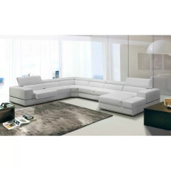 Divani Casa 5106 Modern White Italian Leather Sectional Sofa Nj Vig Furniture And Reviews