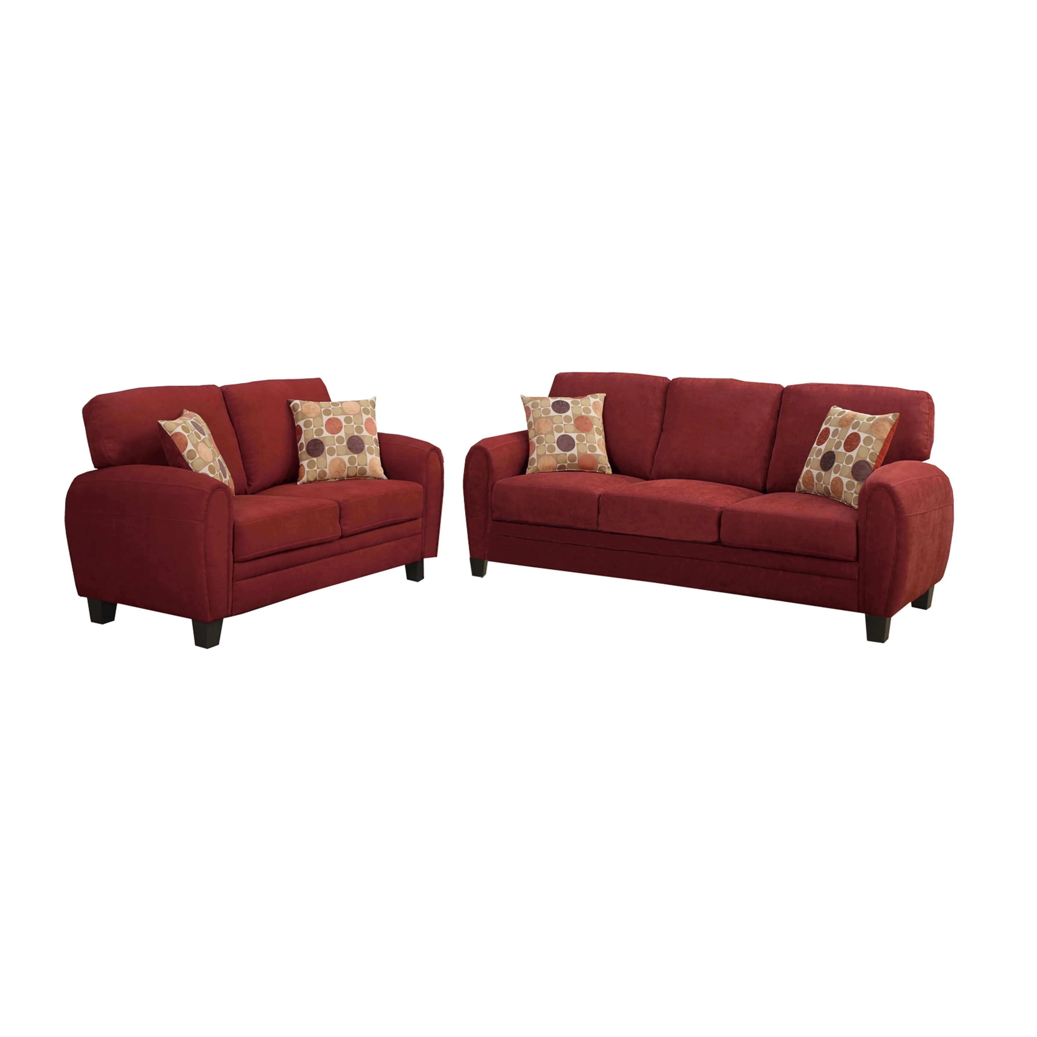 poundex bobkona arcadia sofa and loveseat set friheten corner bed reviews torranceb