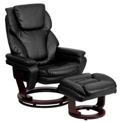 Modern Leather Chair And Ottoman Ergonomic Las Vegas Flash Furniture Contemporary Recliner
