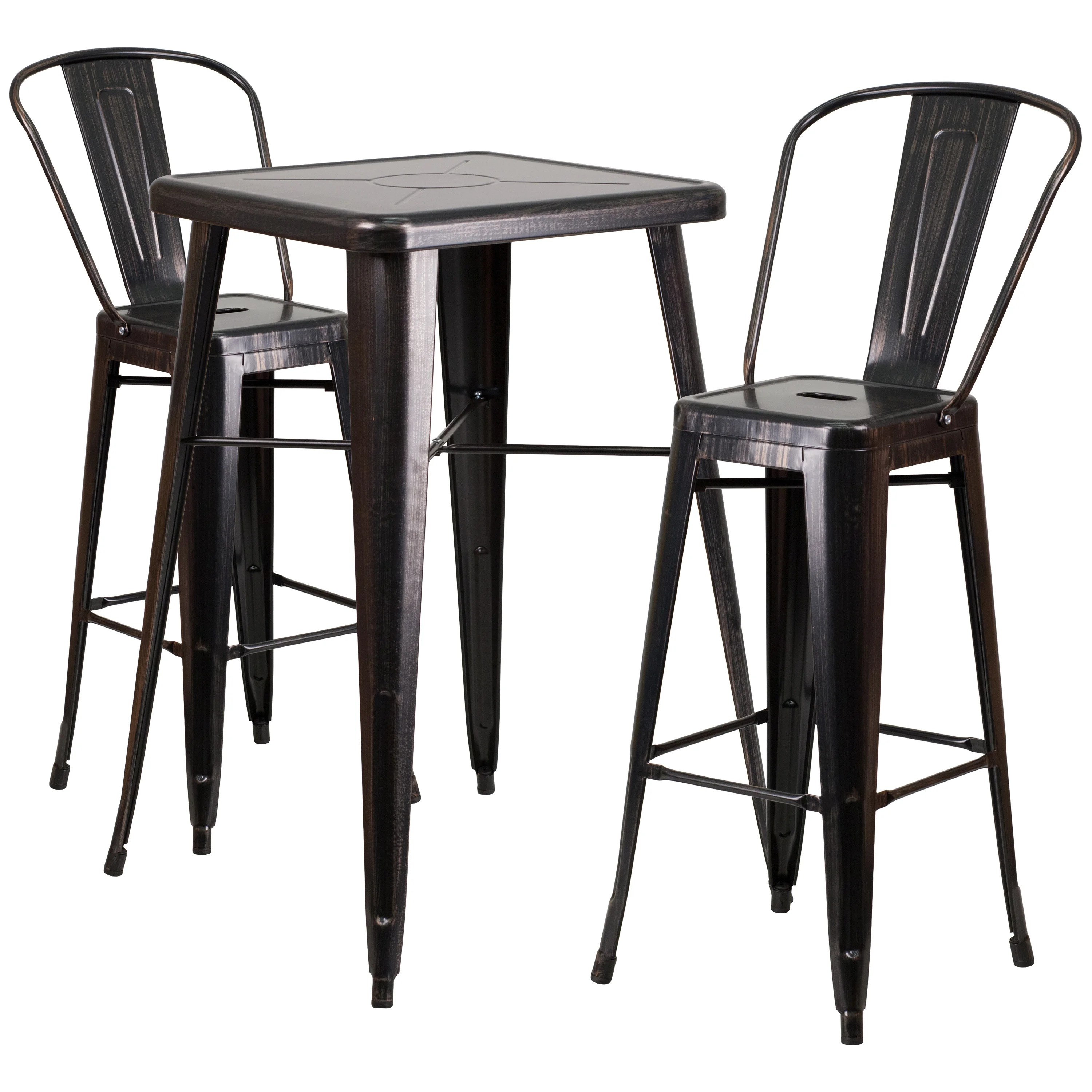 pub table and chairs 3 piece set 2 joki hanging chair flash furniture bar reviews wayfair