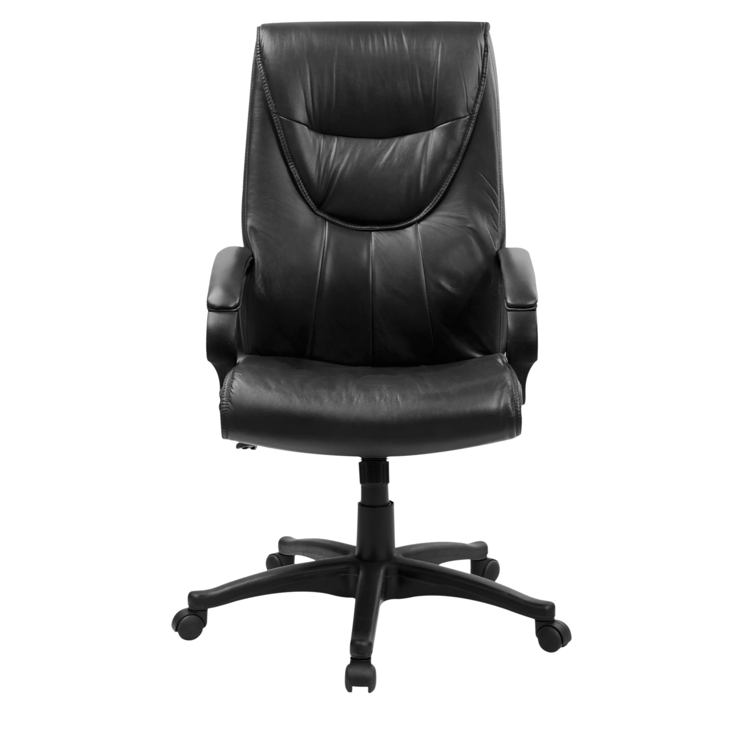 swivel chair high back rolling office leather executive wayfair supply