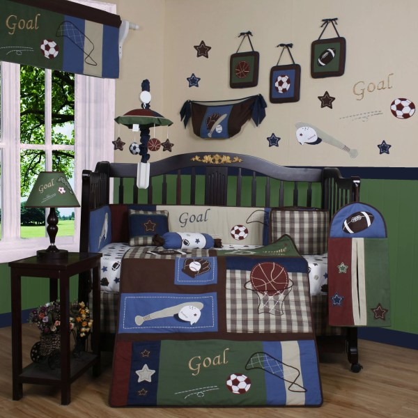 Geenny Boutique Classic Sport 13 Piece Crib Bedding Set &