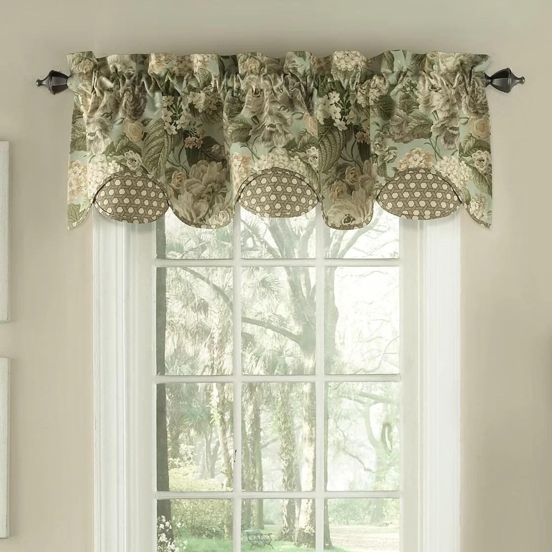 Waverly Garden Glory Scalloped Floral Curtain Valance  Reviews  Wayfair