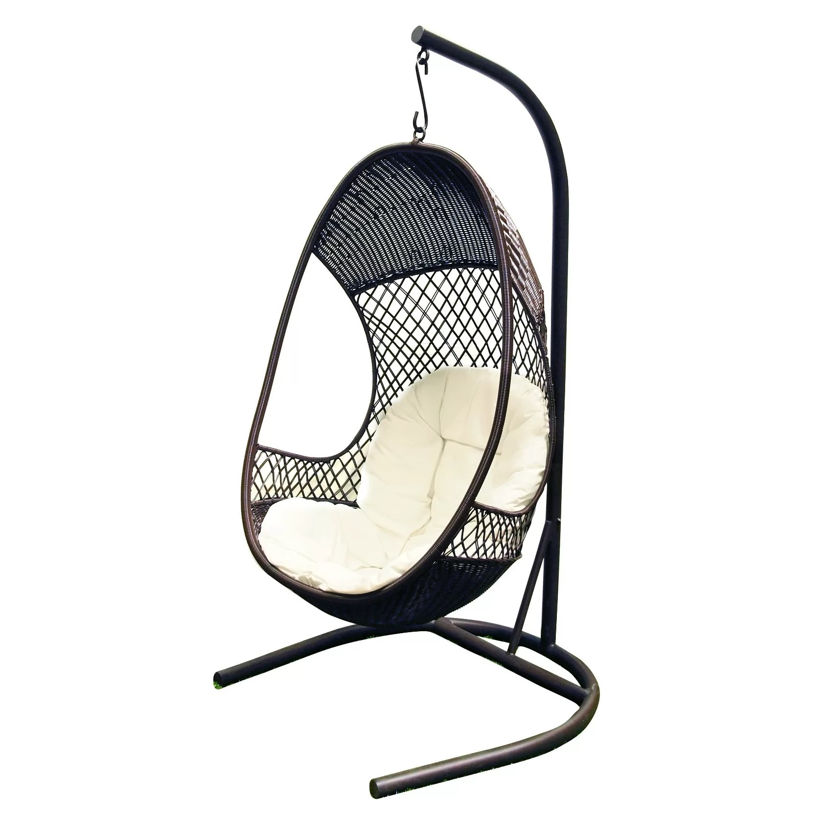 Swing Chair Stand Swing Chair With Cushion Wayfair