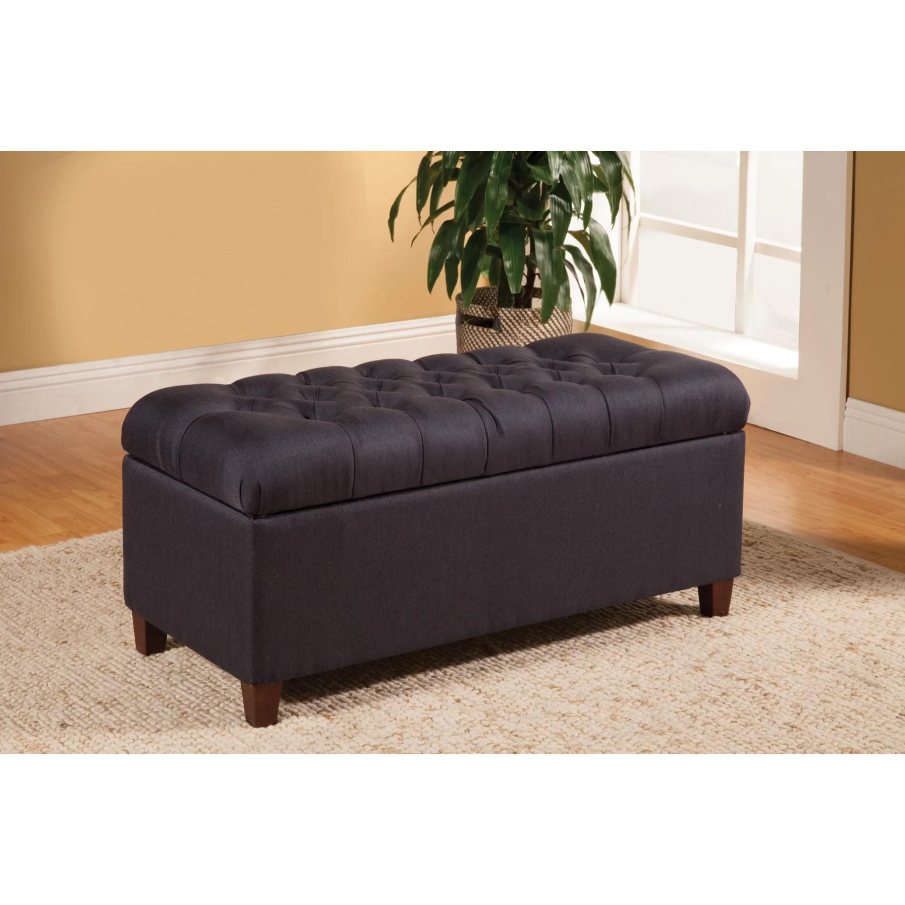 Alcott Hill Henderson Upholstered Storage Bedroom Bench