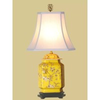 "Birds and Flowers Jar 21"" H Table Lamp with Bell Shade ..."