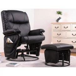 Ergonomic Chair And Ottoman Banquet Covers Black Swivel Glider Rocking Recliner Wayfair