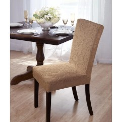 Parson Chair Covers Walmart Ergonomic Upper-back Support Madison Home Velvet Damask Slipcover