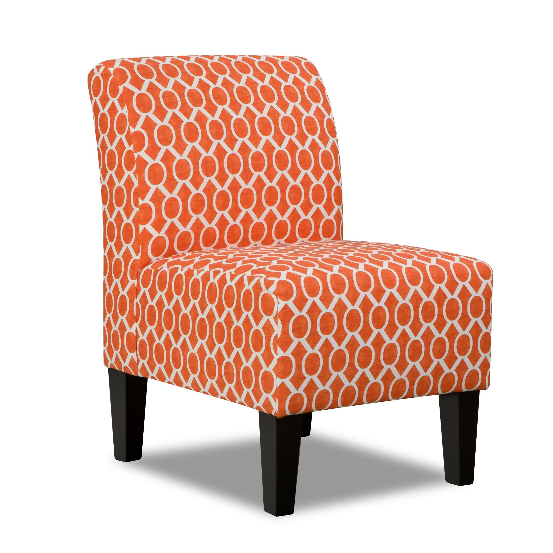 orange upholstered chair swinging with stand simmons upholstery side in and reviews wayfair