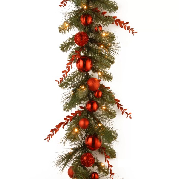 National Tree . Decorative Pre-lit Christmas Mixed Garland &