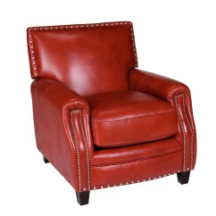 Press Back Chair Room Essentials Bungee Opulence Home Madrid Leather Arm