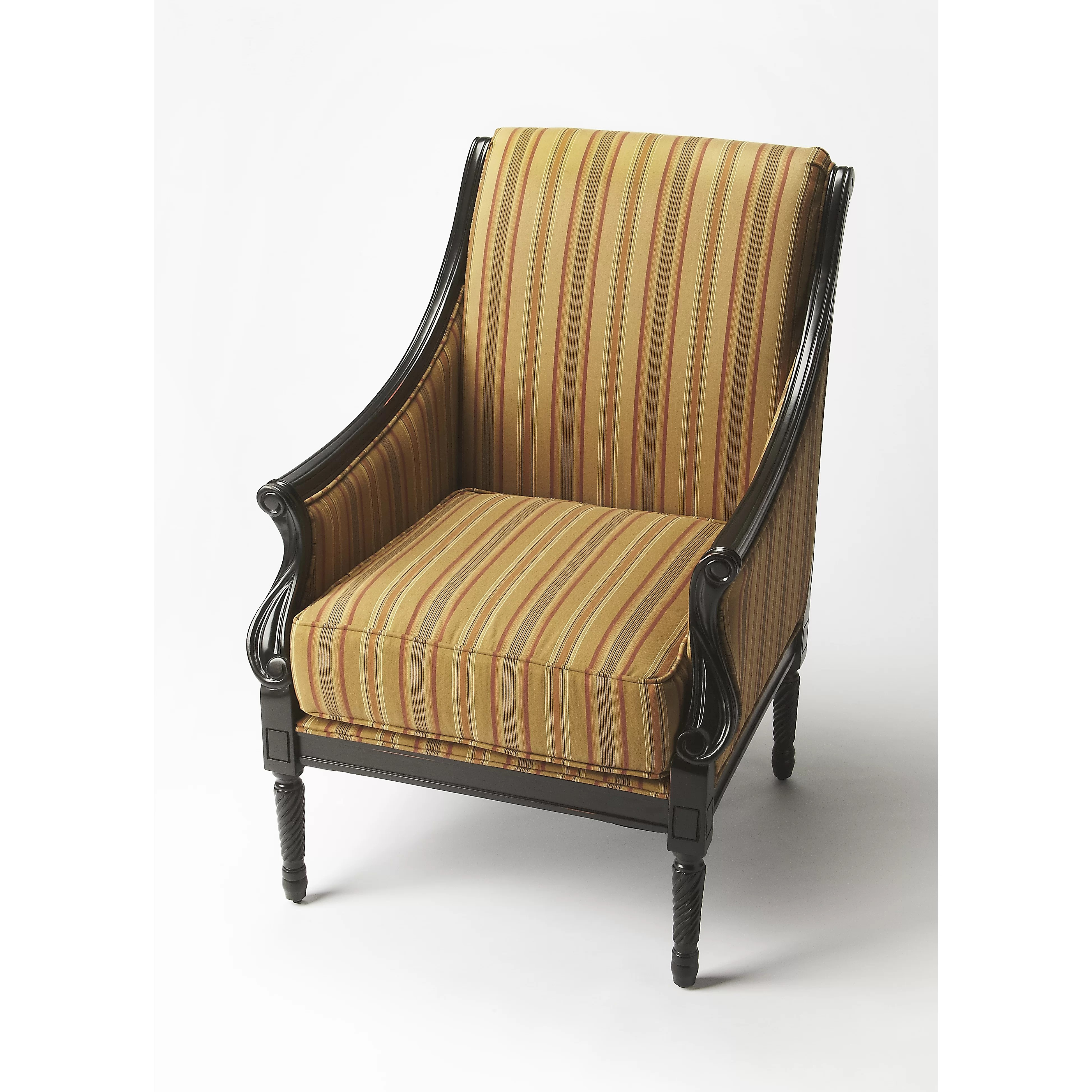 accent chairs with arms clearance braided chair pads for kitchen butler arm and reviews wayfair
