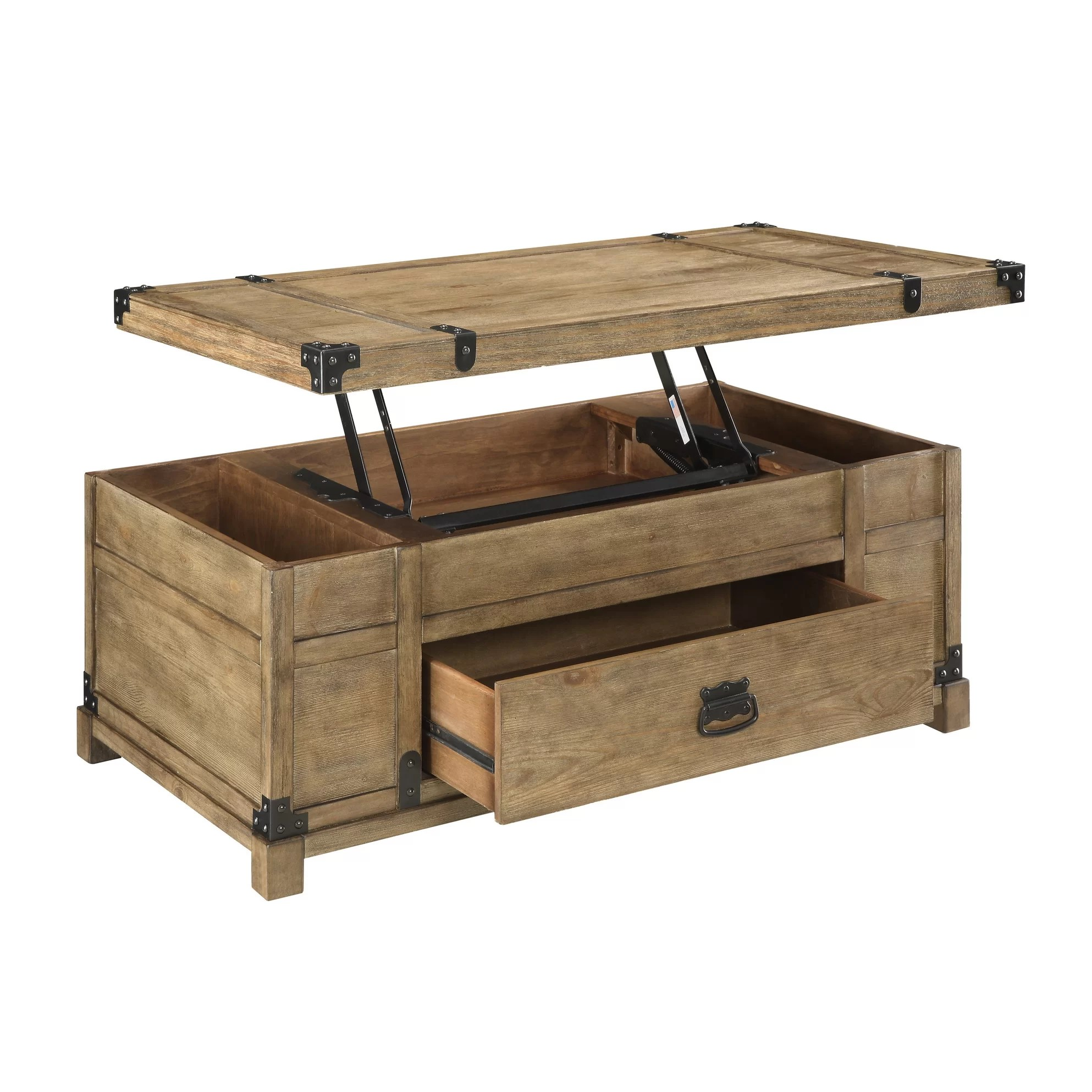 Coast To Coast Imports Treasure Coffee Table With Lift Top