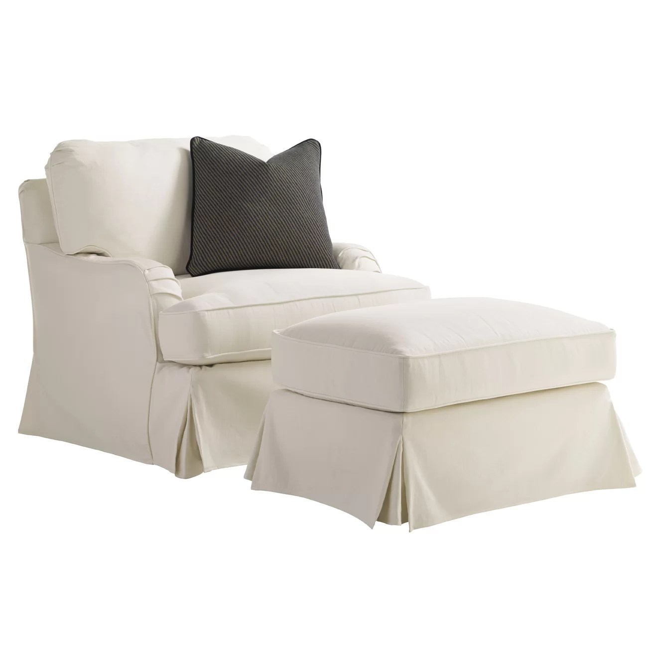 Slipcover For Oversized Chair And Ottoman Coventry Hills Stowe Slipcover Swivel Arm Chair And