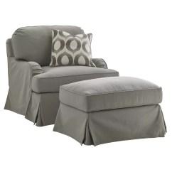 Chair And Ottoman Slipcover Set Backless Desk Oyster Bay Wayfair