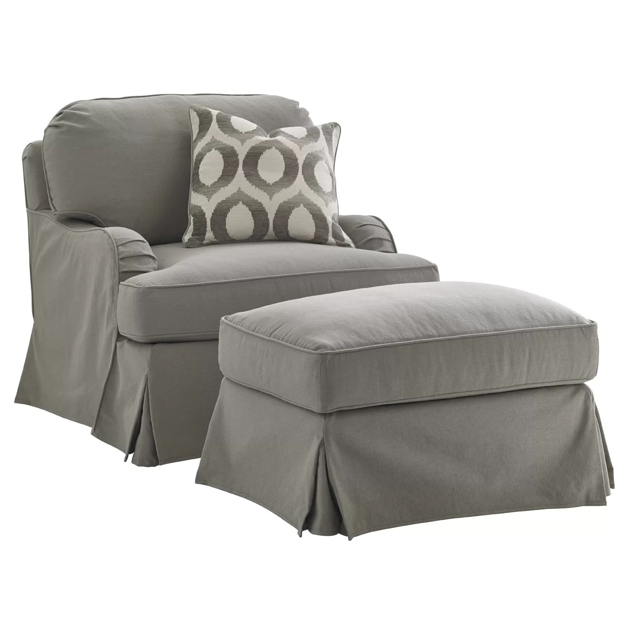 Slipcover For Oversized Chair And Ottoman Oyster Bay Slipcover Chair And Ottoman Wayfair