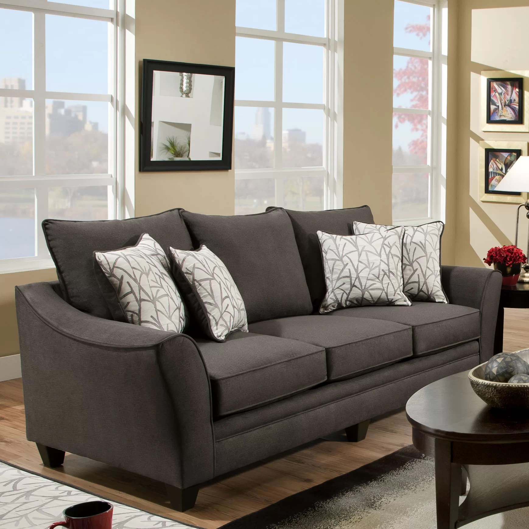 room and board chelsea sofa set small living home flannel reviews wayfair