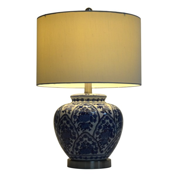 """Hunt Home 20"""" Table Lamp With Drum Shade &"""