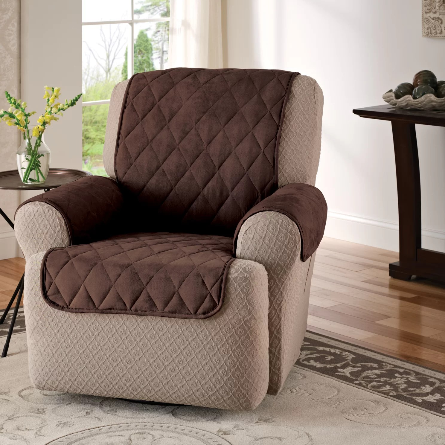 faux leather recliner chair covers for makeup room innovative textile solutions suede furniture